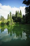 Laurelhurst Park, Portland, Oregon - a City Park. Nature in the City - Laurelhurst Park is an example of a park designed to recall a natural like setting based stock images