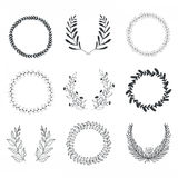 Laurels and Wreaths Collection Royalty Free Stock Images