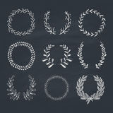Laurels and Wreaths Collection Royalty Free Stock Photo