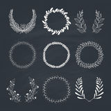 Laurels and Wreaths Collection Royalty Free Stock Photos
