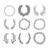 Laurels and Wreaths Collection Stock Photography