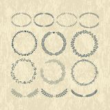 Laurels and wreaths. Design elements Stock Photo