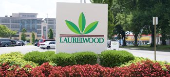 Laurelwood Shopping Center Landscape, Germantown, Tennessee. Stock Photos