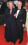 Lauren Bacall,Kirk Douglas. 07MAR99: Actress LAUREN BACALL & actor KIRK DOUGLAS at the Screen Actors Guild Awards.  Paul Smith / Featureflash Royalty Free Stock Image