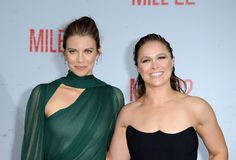Lauren Cohan and Ronda Rousey Stock Image