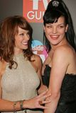 Lauren Holly,Pauley Perrette. Lauren Holly and Pauley Perrette at the TV Guide and Inside TV Emmy Awards After Party. Hollywood Roosevelt Hotel, Hollywood, CA 09 Stock Images