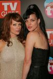 Lauren Holly,Pauley Perrette. Lauren Holly and Pauley Perrette at the TV Guide and Inside TV Emmy Awards After Party. Hollywood Roosevelt Hotel, Hollywood, CA 09 Royalty Free Stock Image