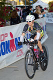 Lauren Jensen Racing in the Arizona Ironman Triath Royalty Free Stock Photo