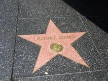 Laurence Oliver-ster in Hollywood Royalty-vrije Stock Fotografie