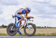 骑自行车者Laurens十水坝 图库摄影