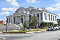 Laurens County SC/USA Courthouse (north face) royalty free stock photo