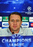 Laurentiu Reghecampf during UEFA Cheampions League press conference Stock Images