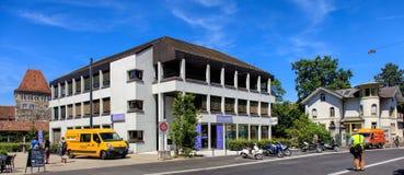 Laurenzenvorstadt-Straße in Aarau, die Schweiz Lizenzfreie Stockfotografie