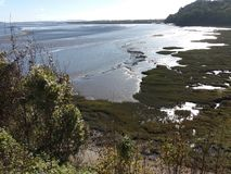 Laurghne的Afon Taf出海口 免版税库存图片