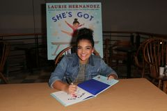 Laurie Hernandez στοκ εικόνα με δικαίωμα ελεύθερης χρήσης