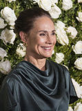 Laurie Metcalf. Actress Laurie Metcalf arrives on the red carpet for the 71st Annual Tony Awards celebrating Broadway theater excellence.  Later she took home Stock Photo