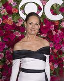Laurie Metcalf at the 2018 Tony Awards. Actress Laurie Metcalf arrives on the red carpet for the 72nd Annual Tony Awards held at Radio City Music Hall in New Stock Photography