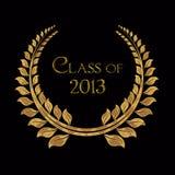 Laurier d'or pour l'obtention du diplôme 2013 illustration de vecteur