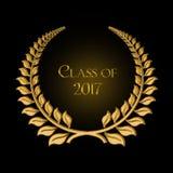 Laurier d'or pour l'obtention du diplôme 2017 Photos stock
