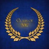 Laurier d'or pour l'obtention du diplôme 2017 Images stock