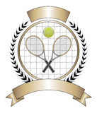 Laurier de descripteur de conception de tennis Photo stock
