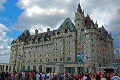 Замок Laurier Fairmont в Оттаве, Канаде стоковая фотография