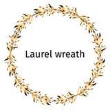 Laurier gouden kroon van de winnaar stock illustratie