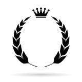 Laurier heraldisch embleem vector illustratie
