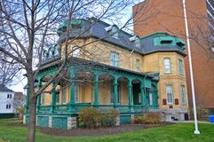 Laurier House, Ottawa, Canada. Laurier House, built in 1878, is a National Historic Site in Ottawa, Ontario, Canada. It was formerly the residence of two Stock Photo