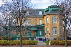 Laurier House, Ottawa, Canada. Laurier House, built in 1878, is a National Historic Site in Ottawa, Ontario, Canada. It was formerly the residence of two Royalty Free Stock Image