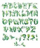 Laurierblad, reeks brieven Royalty-vrije Stock Afbeelding