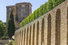 Old castle at Lauris village in Provence, France. stock photography
