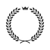 Laurowa pszeniczna wianku symbolu zwycięstwa osiągnięcia ikona ilustracji