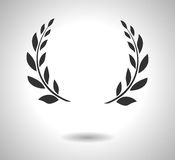 Laurowa wianek ikona Znak odizolowywający na bielu chwała EPS royalty ilustracja