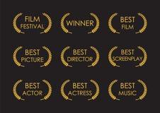 Laurowe nagroda znaka filmu nagrody Zdjęcie Stock