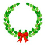 laurowy Boże Narodzenie wianek Zdjęcia Royalty Free