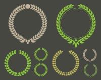 Laurowy liścia wianku zwycięzcy set ilustracji