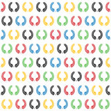 Laurowy wianek w bezszwowym wzorze Olimpijski kolor Ilustracja Wektor