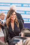 Laury Thilleman, French model and Miss France 2011, on the red carpet at the 43rd Deauville American Film festival Royalty Free Stock Photos