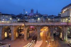Lausana, Suíça Fotografia de Stock Royalty Free