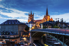 Lausanne Cathedral Stock Photography