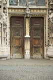 Lausanne  cathedral main doors Stock Photography