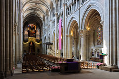 Free Lausanne Cathedral Nave From The Back. Stock Images - 21671414