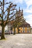 Lausanne domkyrka Fotografering för Bildbyråer