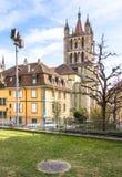 Lausanne domkyrka Arkivfoton