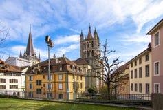 Lausanne domkyrka Arkivfoto