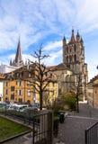 Lausanne domkyrka Royaltyfri Foto