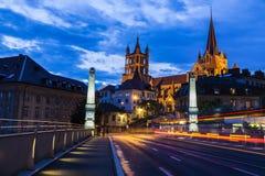 Lausanne domkyrka Royaltyfria Bilder