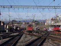 Lausanne: ferrocarril Imagenes de archivo