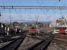 Lausanne : gare Images stock